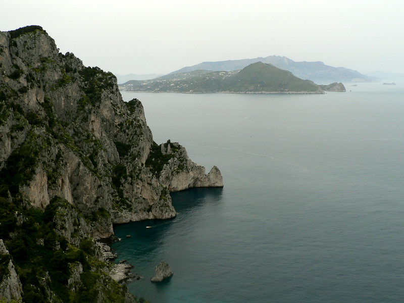 View of the mainland from Capri