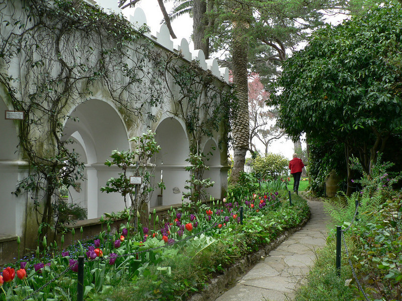 Approaching the Villa San Michele in Anacapri