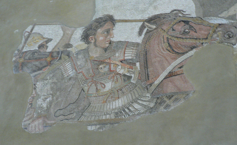Alexander the Great, winning the Battle of Issus, Naples' Archaeology Museum