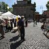 Rome (Trastevere) - small street market in Piazza Triulusa, near Hotel Casa san Giuseppe.
