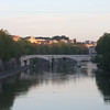 Rome (Trastevere) - a morning view of the river near the Hotel.