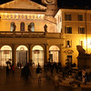 Rome (Trastevere) - entrance to Santa Maria in Trastevere Church.