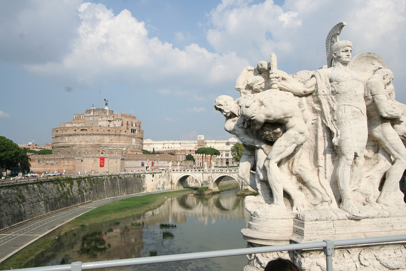 Rome - a view of the Tiber (Tevere) and Castel Sant'Angelo.