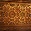 Rome (Trastevere) - elaborate ceiling design in the Church.