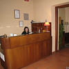 Rome (Trastevere) - the front desk of Casa san Giuseppe, with the very helpful Ambra on duty.
