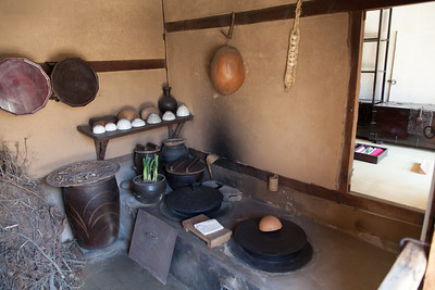 Traditional village kitchen.
