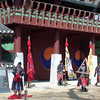 Suwon, fortress city:  setting up for a show