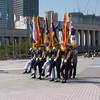 War Memorial: military procession