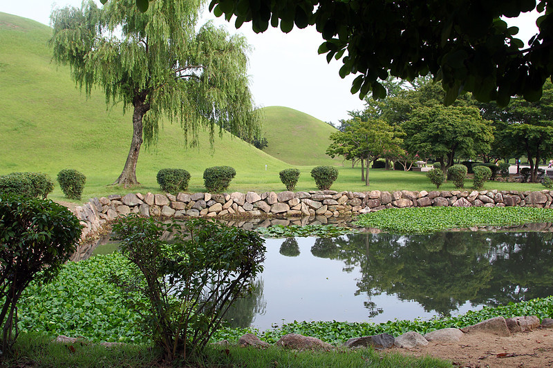 Pond and Royal Tombs (burial mounds).