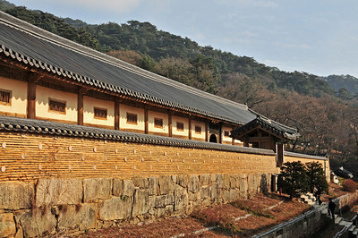Haeinsa Temple in the Gaya mountains - in this building the Tripitaka Koreana, the whole of the Buddhist Scriptures carved onto 81,350 wooden printing blocks has been housed since 1398