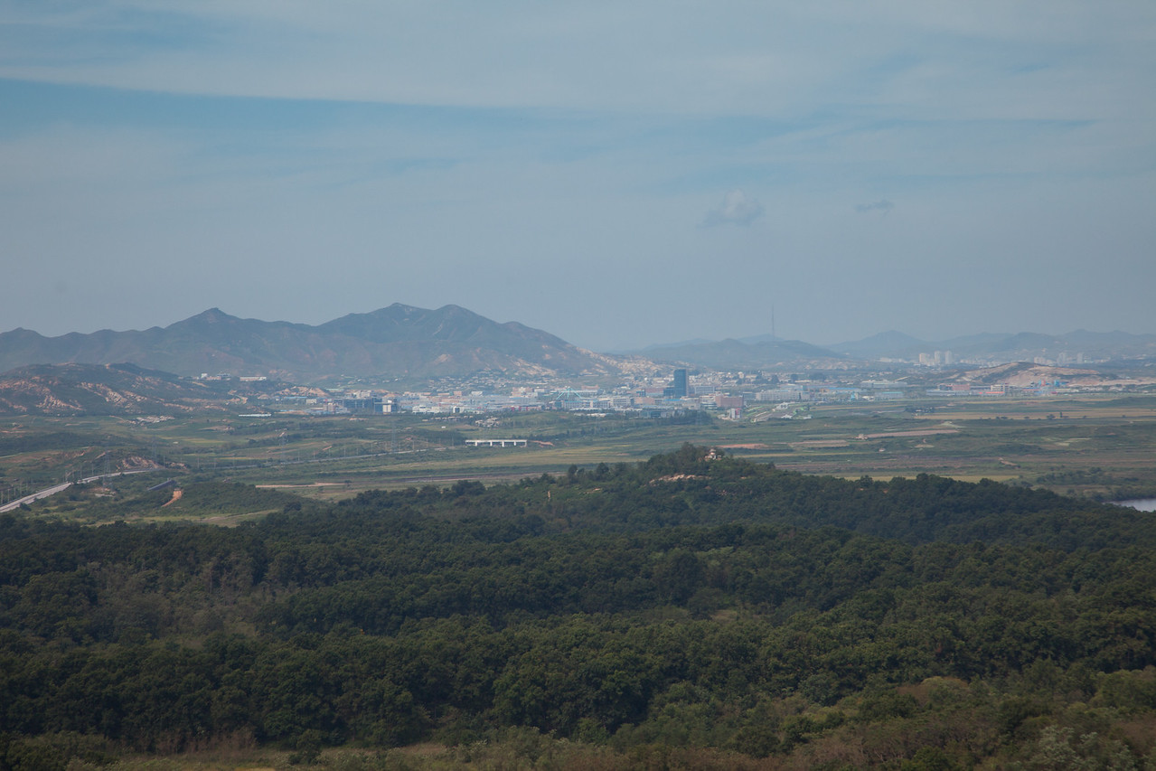 View of North Korea from the DMZ post - bigger than I though the city would be!