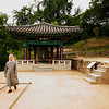 <p>Nun at Temple. Bongjeongsa Temple, Andong, South Korea</p>