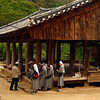 <p>Group of Nuns Visits Temple. Bongjeongsa Temple, Andong, South Korea</p>