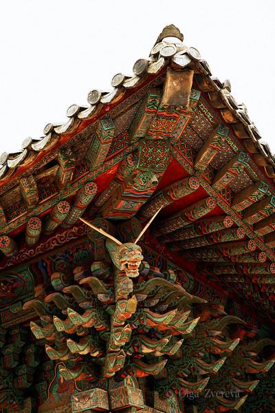 <p>Fragment of the Roof, Bulguksa Temple, Gyeongju, South Korea</p>