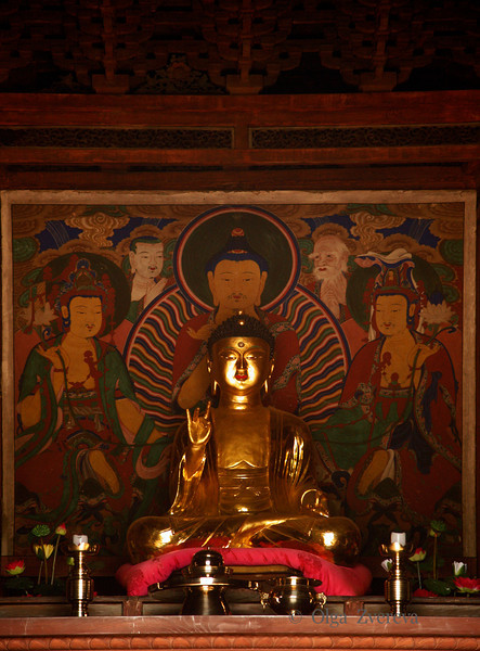 <p>Buddha Statue in Geungnakjeon. Bongjeongsa Temple, Andong, South Korea</p>