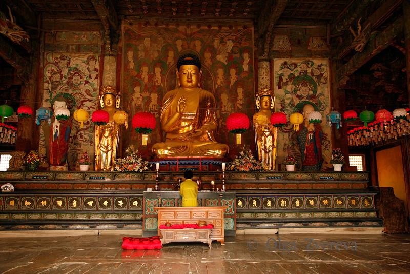 <p>Buddha Statue in Daewoonjeon Main Hall, Bulguksa Temple, Gyeongju, South Korea</p>