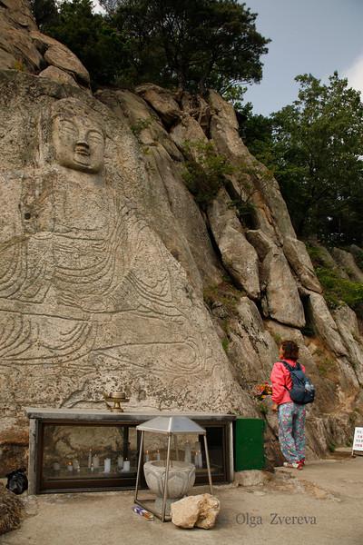 <p>Stone Seated Buddha, Mt.Namsan area, Gyengju, South Korea</p>