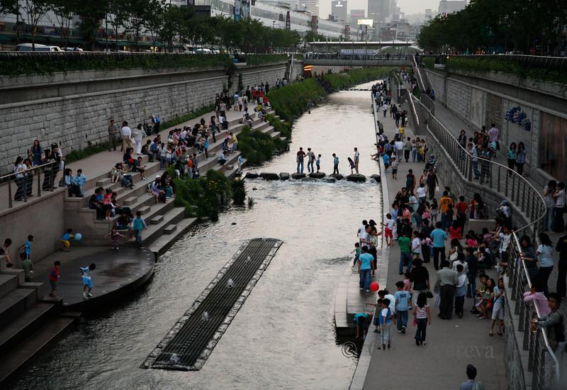 <p>Cheonggyecheon Stream, Seoul, South Korea</p>