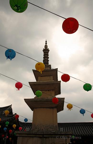 <p>Sokkatap Pagoda, Bulguksa Temple, Gyeongju, South Korea</p>  <p>Pagoda stands in the front yard of the main worshipping hall.</p>