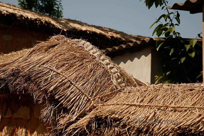 <p>Hay Cover Details. Hahoe Folk Village, Andong, South Korea</p>