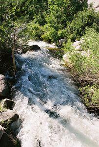 7/1/05 S. Fork Bishop Creek, from Bridge at Tyee Lakes Trailhead, Bishop Creek Rd to South Lake