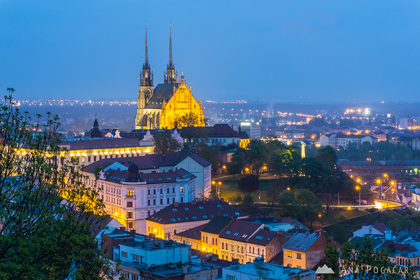 Brno at dusk