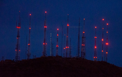 Lighted towers from So Mtn 8811