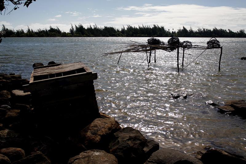 Fish traps.