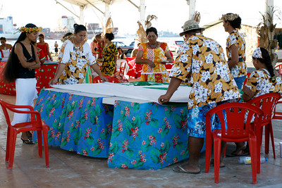 Hieva is a huge festival highlighting Polynesian culture.  This was some sort of timed sewing competition.
