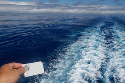 I used my test card to ensure I'd capture how blue the water was.  This is half way between French Polynesia and the Cook Islands.
