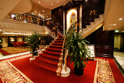 Staircase at the reception desk.