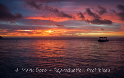Just another magic sunset. Yasawa islands, Fiji