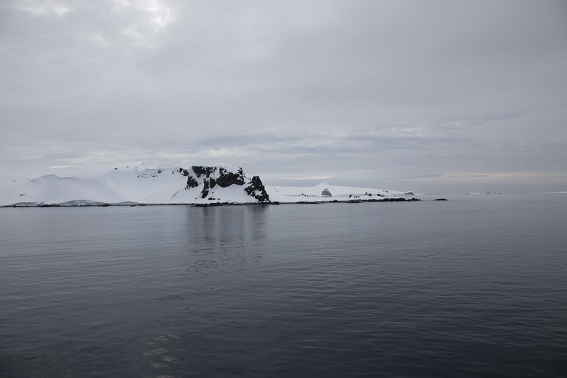 Halfmoon Island in South Shetland, Antarctica. Cruise with Fram