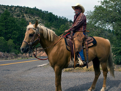 Real Cowboy, taking a little ride on the Continental Divide Trail in the Gila Wilderness
