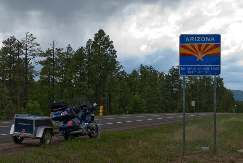 Welcome to Arizona, rain on my windshield