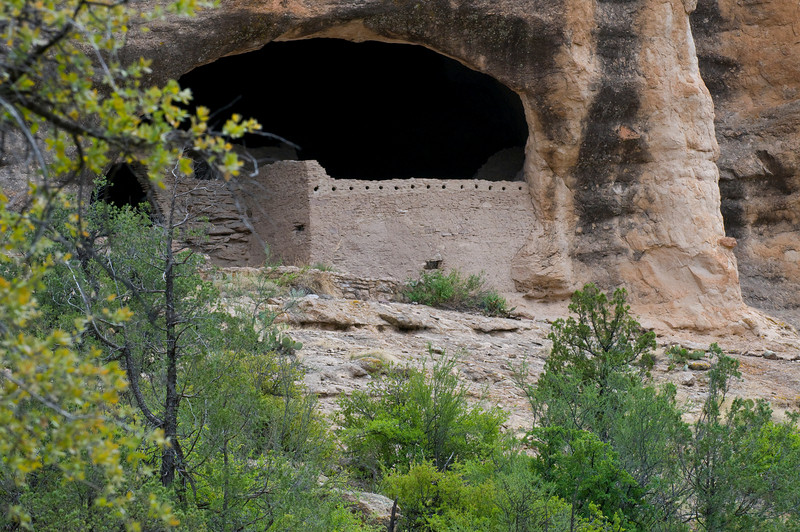 Gila Cliff Dwellings from the trail