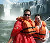 Zodiac trip to the Argentinian side of the falls ...