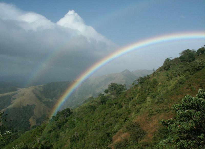 Monteverde: Double rainbows over Santa Elena Cloud Forest Reserve.