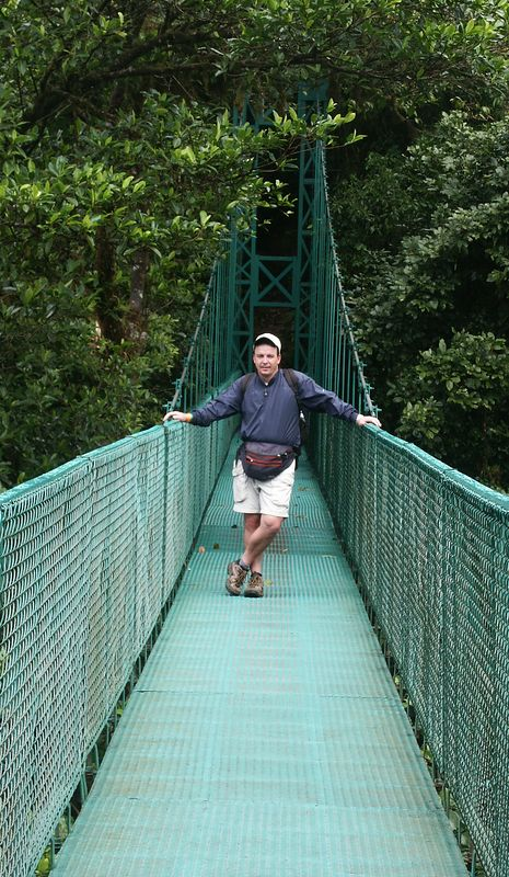 Treetop Walkways at Selvatura: One way to observe the Cloud Forest Canopy, it's a 1.9 mile trail that cruises through the forest crossing eight different bridges (which range between 170 to 560 feet in length and 40 to 260 feet in height).