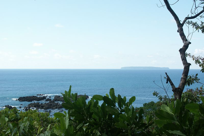 View of CAÑO ISLAND from Corcovado.