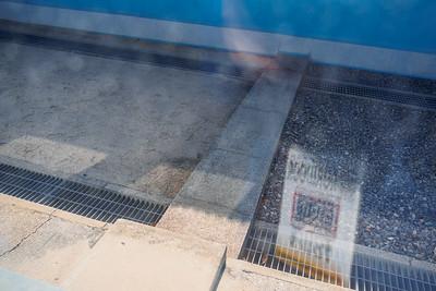 The concrete beam represents the border