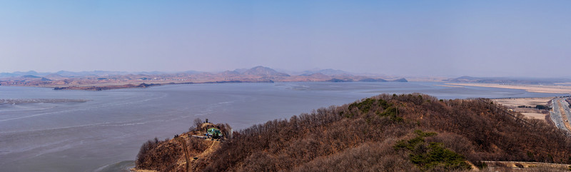 The view across the Imjin River of North Korea from Odusan Unification Observatory