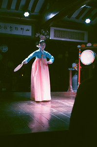 Traditional Korea Dance in Insadong, Seoul