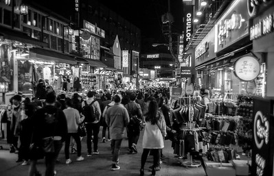 Hongdae, the university district in Seoul