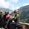 Riding through the mountains.  Amazing views!