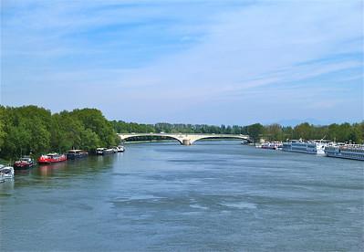 Rhone River. Avignon, France.