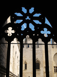 The sick and the poor would come to see the Pope. They would gather in this courtyard and the Pope would wave from this window. Palais des Papes. Avignon, France.