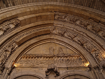 Arch in the Palais des Papes. Avignon, France.