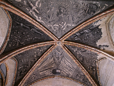Ceiling in the Palais des Papes. Avignon, France.