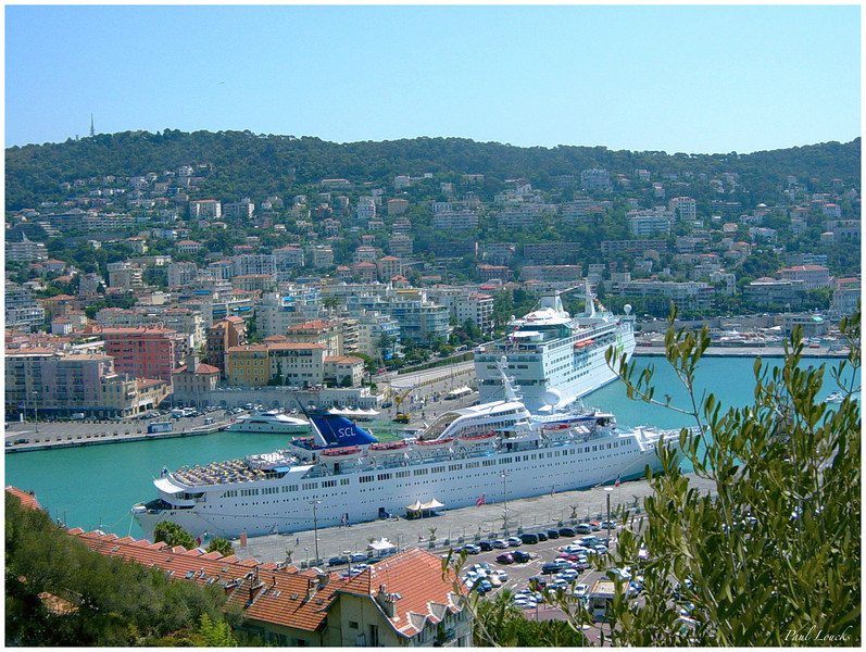 Cruise ships in the Nice Harbor